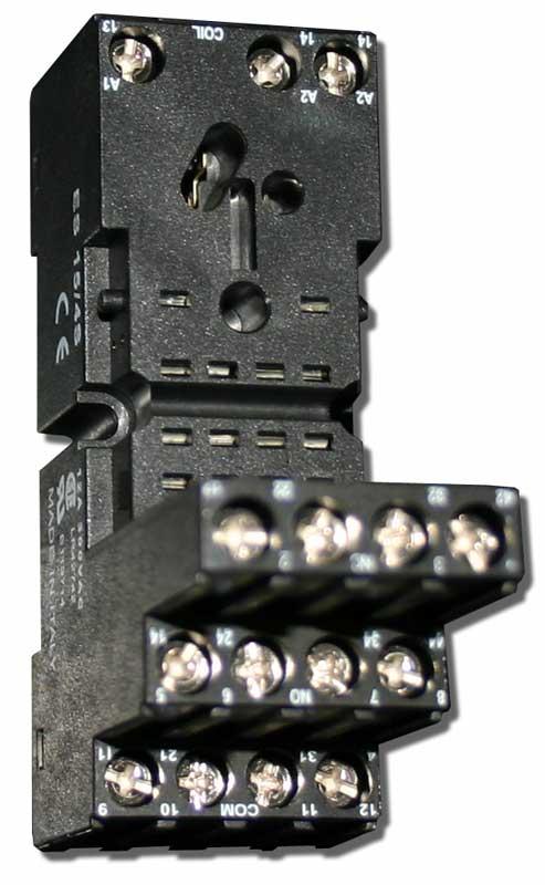 Support relais enfichable, composant électronique PERRY ELECTRIC pour motorisation à portail TREBI