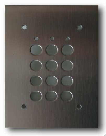 Plaque encastrement pour digicode DIGIT - accessoire de sécurité pour motorisation portail, contrôle d'accès TREBI