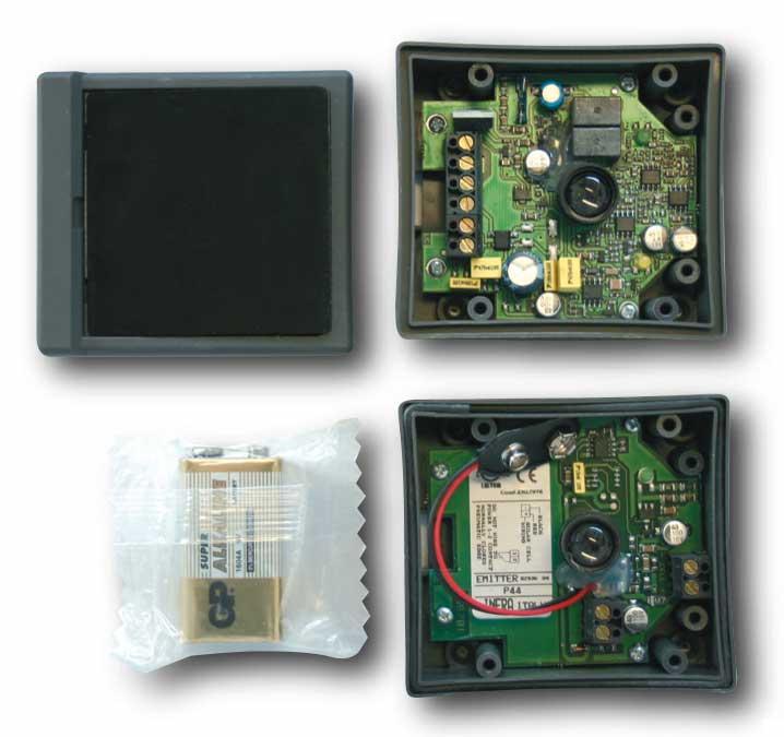 Barrière infrarouge (photocellule) autonome à pile. Fabricant : GPA AUTOMATIC SYSTEM (Italie), SAD