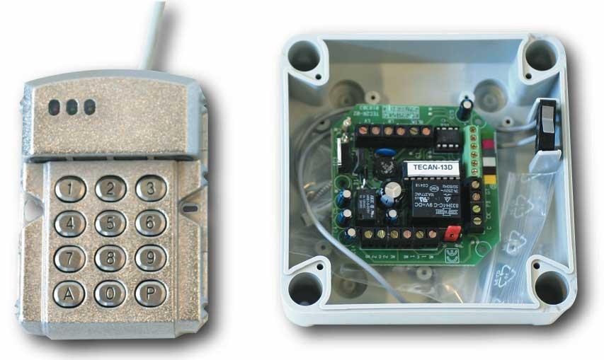 Digicode à électronique déportée - 250 code. TREBI, distributeur pour le Fabricant ACIE. Achat en ligne possible sur bricometal/faptrebi. Motorisation, contrôle d'accès