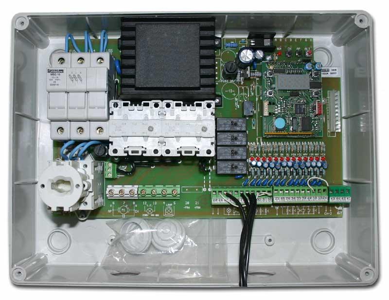 Armoire 1 moteur 4cv monophas 230v ou triphas 380v portail trebi automatismes votre - Cablage armoire electrique triphase ...