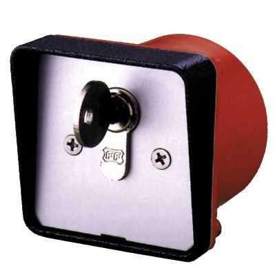 contacteur à clef à encastrer - cylindre interchangeable - controle d accès portail portails portes - trebi SFDS SELC4E - bricometal faptrebi