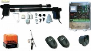 kit complet motorisation portail kitgr600 trebi - 2 vérins course 600mm - proget trebi