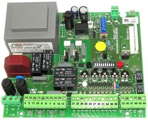 platine 2 moteurs portails 220V embrochable - trebi proget srl - b104m p - 10b104sk